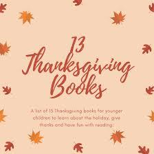 13 thanksgiving books for children parent influence