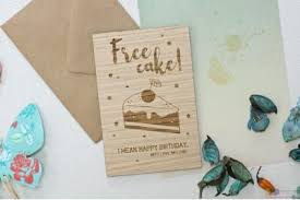 happy b u0027day personalised wooden cards let u0027s party