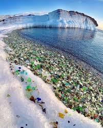 russia u0027s sea glass beach sparkles in the sun