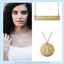 Name Bar Necklace Gold Bar Necklace Engraved Name