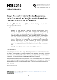 Teaching Interior Design by Design Research In Interior Design Education U2014 Drs2016