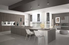 kitchen industrial grey and wood kitchen cabinet with oven in a