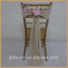 Burlap Chair Sash C200a Wedding Tie Back Chair Cover With Flowers Burlap Chair Sash