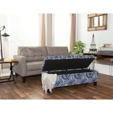 Blue Bedroom Bench Crawford U0026 Burke Berkley Blue And White Paisley Pattern Linen