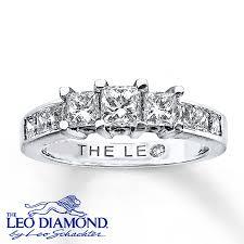 leo diamond ring princess cut engagement rings leo diamond princess cut engagement