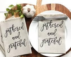 thanksgiving dinner napkins dinner napkins grateful napkins blessed napkins thankful