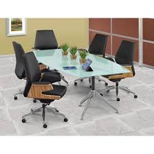 Glass Top Conference Table View Glass Top Boat Shaped Conference Table 8 W Glass And Desks