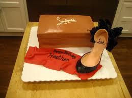 sift by kara louboutin red bottom shoe and shoe box cake