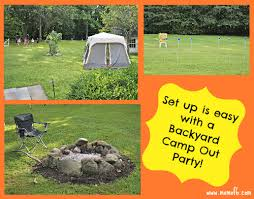 Backyard Campout Ideas Great 9 Year Old Boy Birthday Party Idea Backyard Campout