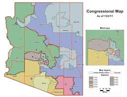 Arizona Map State by Az U0027s Gerrymandered Congressional Map Seeing Red Az