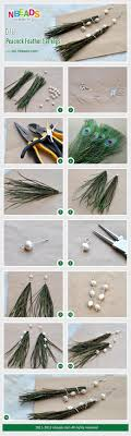 how to make feather earrings with diy peacock feather earrings nbeads