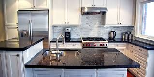 granite countertop design for kitchen cabinet white brick