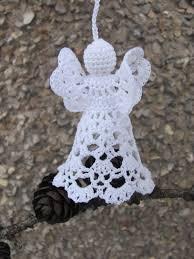 crochet angel christmas ornament white angel christmas