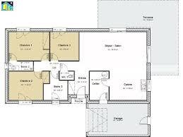 chambre gar ns plan maison plain pied 150m2 gratuit trendy cuisine quipe neuve mtre