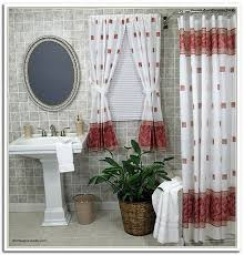 Matching Bathroom Window And Shower Curtains Beautiful Bathroom Window Curtains With Matching Shower Curtain