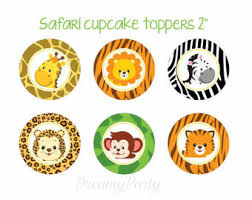 safari cake toppers safari cupcake toppers instant jungle cupcake