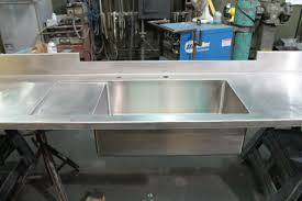 stainless countertop with integral sink and drainboard concord