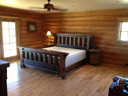 concept of rustic bedroom design ideas with black metal bed feat