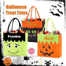 personalized halloween treat bags halloween trick or treat bag personalized halloween bag