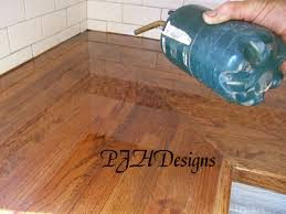 used countertops home design ideas and pictures remodelaholic easy butcher block countertop tutorial step 11