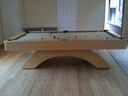 modern billiard table olhausen waterfall pool table in wood finish with sage cloth