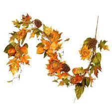fall garland fall garland wreaths fall decorations the home depot