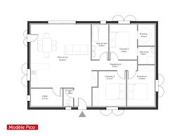 plan de maison 100m2 3 chambres plan de maison 100m2 madame ki