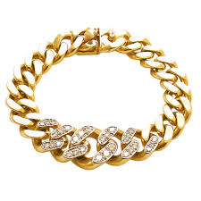 chain bracelet with diamond images Gold and diamond link reversible bracelet by cartier c1960 jpg
