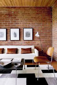 enchanting paint colors that go with red brick wall with exposed