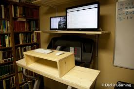 Diy Treadmill Desk by Treadmill Desk Or How Computer Nerds Live Long And Prosper Dad