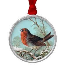 robin bird ornaments keepsake ornaments zazzle