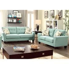 furniture of america primavera modern 2 piece linen loveseat and
