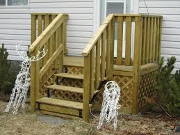 Wooden Front Stairs Design Ideas Decorations Country Front Door With Wooden Stair And White