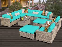Turquoise Patio Furniture by Tk Classics Monterey 13 Piece Sectional Seating Group With Cushion