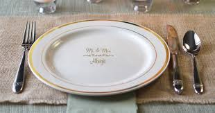 personalized dinner plate personalized wedding reception decorations