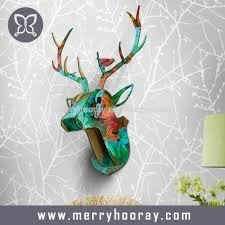 modern animal head home decor deer head wall art decor buy home