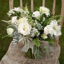 white bouquet wedding wednesday green white bridal bouquets flirty fleurs