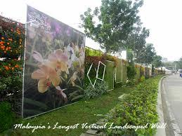 Vertical Garden Adalah - the unique art piece at floria putrajaya 2013 malaysia u0027s longest