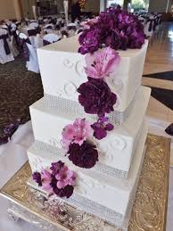 purple white and silver wedding cake rhinestone wedding cake with