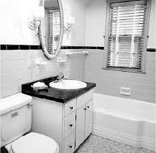 best incridible black and white tile bathroom decor 4160