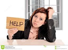 femme de bureau femme d affaires triste dans l effort au travail de bureau