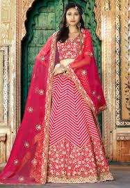 Buy Violet Embroidered Art Silk Buy Art Silk Lehenga Cholis And Art Silk Bridal Lehengas Online