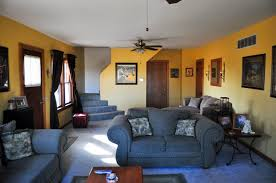 blue yellow living room boncville com