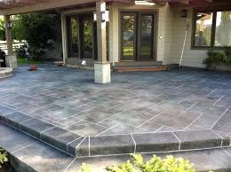 Cement Patio Designs Overwhelming Concrete Patio Decorative Difference Ideas Concrete