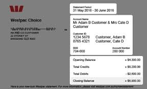 account statements and information westpac