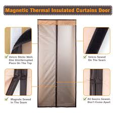 Door Draft Curtain Magnetic Thermal Insulated Door Curtain Enjoy Your Cool Summer And