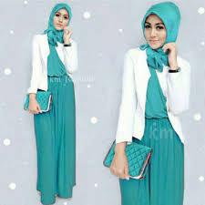 blazer wanita muslimah modern contoh model blazer muslim modern terbaru terpopuler 2017