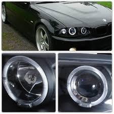 eye bmw headlights xenon 99 01 bmw e46 3 series 4dr eye halo projector