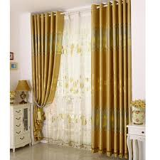 luxury bedroom curtains gold print floral poly cotton blend luxury bedroom curtains on sale