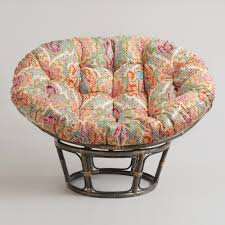 furniture double papasan chair frame rattan swivel rocker